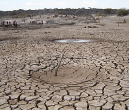 picture of dry, cracked mud in barren area of Ethiopia; photo from USAID.gov
