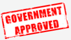 picture of stamp that says government approved