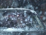funny winter snow video link; thumb of car in snow