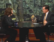 funny technology video link; thumb of Sherry Turkle and Stephen Colbert