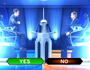 funny game show video link; thumb of Regis Philbin and player sitting on stage of game show