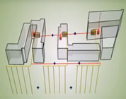 green building video link; thumb of image of geothermal heating/cooling system for apartment complex