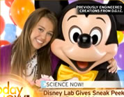 disney satire link; thumb of child start posing for photo with mickey mouse