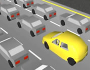 funny traffic video link; thumb of graphic image of cars in traffic jam