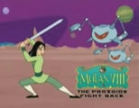 disney parody link; thumb of fake animation image of mulan fighting robots