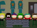 funny shop class video link; thumb of south park characters in shop class