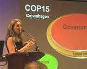 peak oil and climate change videos link; thumb of Polly Higgins and slides
