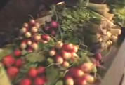 photo of locally grown veggies; click to go to video page; opens in new window