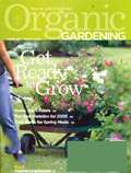 magazine cover for Organic Gardening Magazine; click to view on Amazon dot com